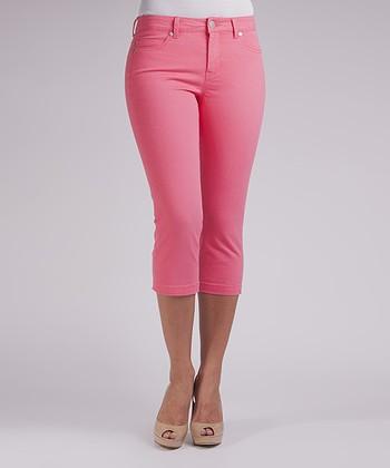 Liverpool Jeans Company Fuchsia Michelle Capri Pants