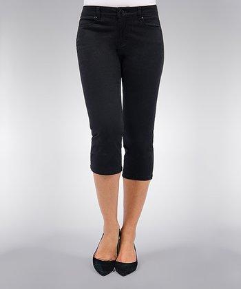 Liverpool Jeans Company Black Michelle Capri Pants