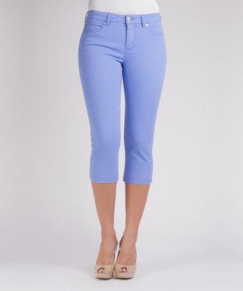 Liverpool Jeans Company Periwinkle Michelle Capri Pants