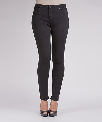 Liverpool Jeans Company Black Over-Dyed Abby Skinny Jeans