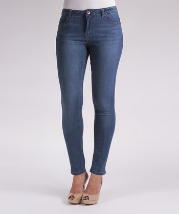 Liverpool Jeans Company Indigo Whiskered Abby Skinny Jeans