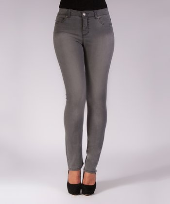 Liverpool Jeans Company Gray Love Me Wash Straight-Leg Jeans