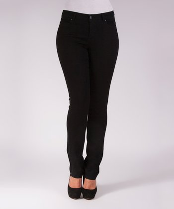Liverpool Jeans Company Black Sadie Straight-Leg Jeans