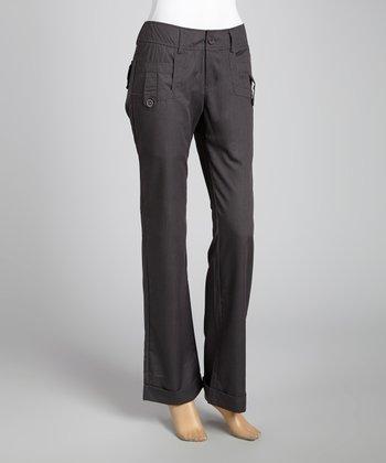 STYLE Gray Tab Skinny Pants