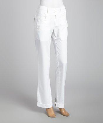 STYLE White Tab Skinny Pants