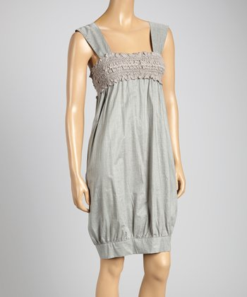 STYLE Gray Embellished Sleeveless Top