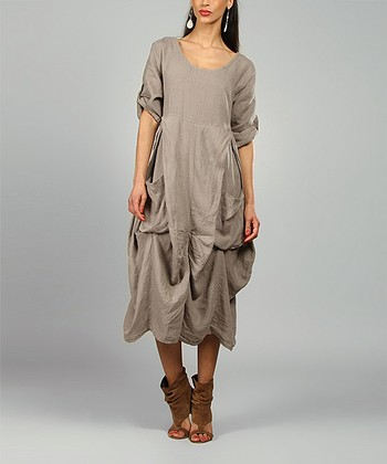 Mole Pamela Linen Scoop Neck Dress