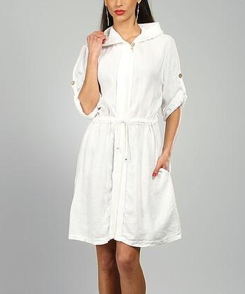 White Rachel Linen Coat