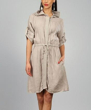 Beige Rachel Linen Coat