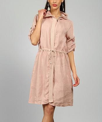 Pink Rachel Linen Coat