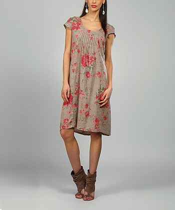 Mole & Fuchsia Anna Linen Shift Dress