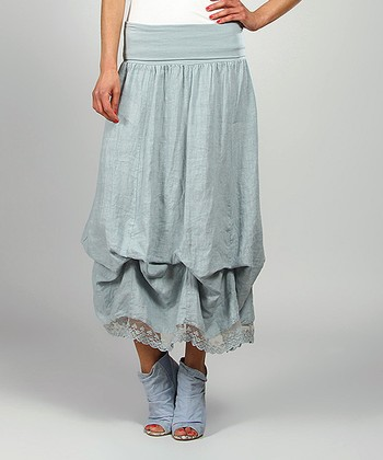 Sky Valery Linen Maxi Skirt