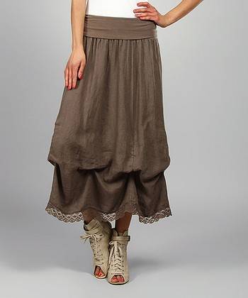 Choco Valery Linen Maxi Skirt