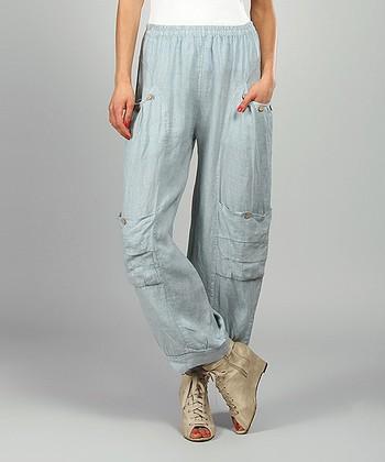 Sky Kelya Linen Cargo Pants