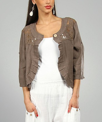 Choco Angeline Linen Jacket