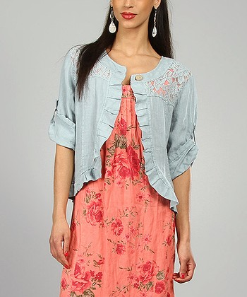 Sky Angeline Linen Jacket