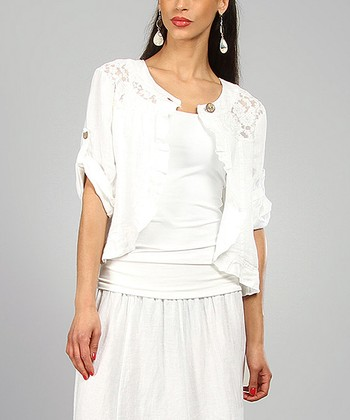 White Angeline Linen Jacket