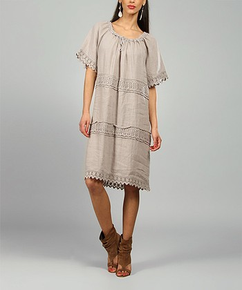 Mole Elsa Linen Shift Dress