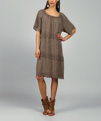Choco Elsa Linen Shift Dress