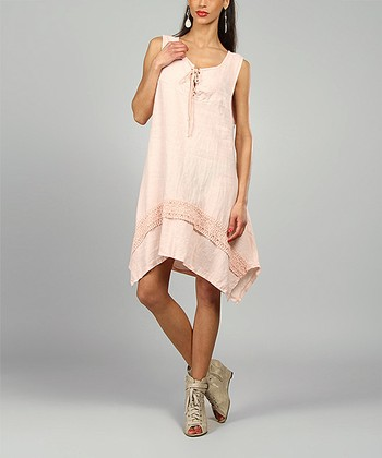 Pink Leslie Linen Handkerchief Dress