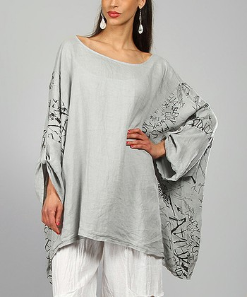 Light Gray Ariell Linen Tunic