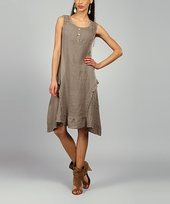 Mole Lydia Linen Scoop Neck Dress