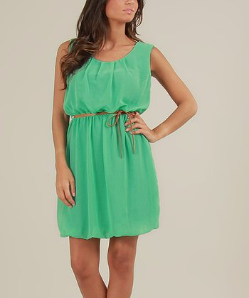 Green Cerise Sleeveless Dress
