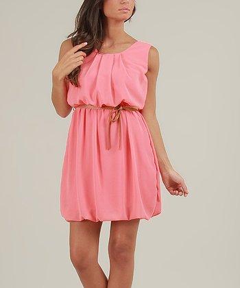 Coral Fanny Sleeveless Dress