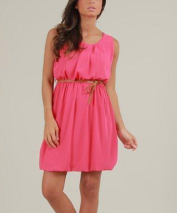 Pink Cerise Sleeveless Dress
