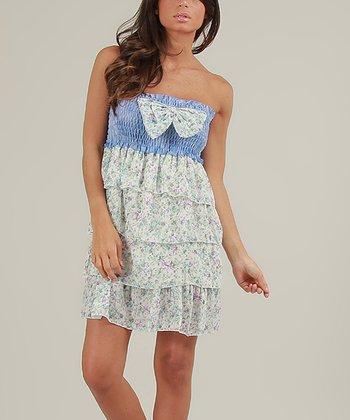 Blue & Green Vanessa Strapless Dress