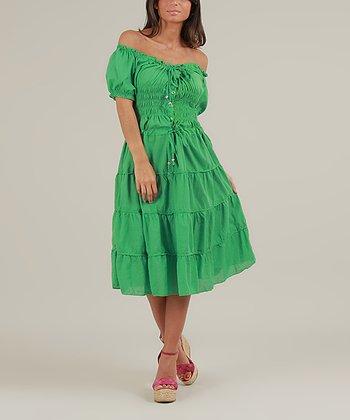 Green Olie Dress