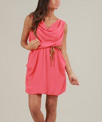 Coral Flore Sleeveless Dress