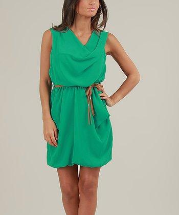 Green Flore Sleeveless Dress