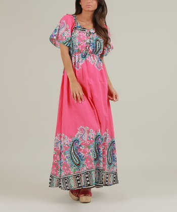 Fuchsia Olivia Maxi Dress