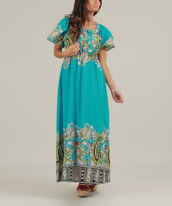 Turquoise Olivia Maxi Dress