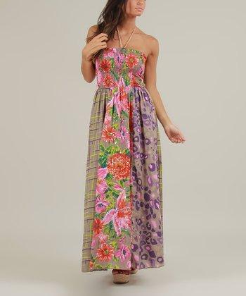 Gray & Pink Ellen Maxi Dress