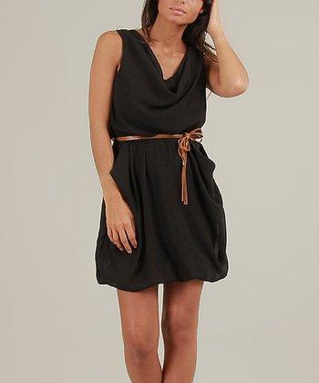 Black Flore Sleeveless Dress