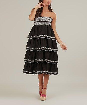 Black & White Dora Strapless Dress