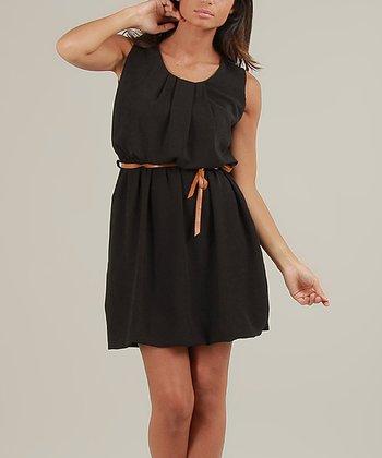 Black Cerise Sleeveless Dress