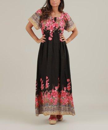 Black & Pink Olivia Maxi Dress