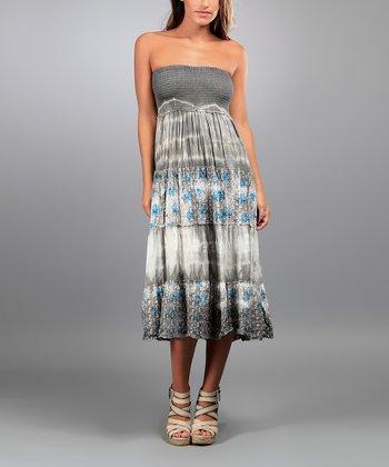 Gray Cady Strapless Dress