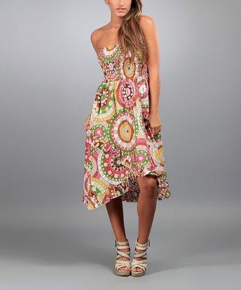 Brown Judith Strapless Dress