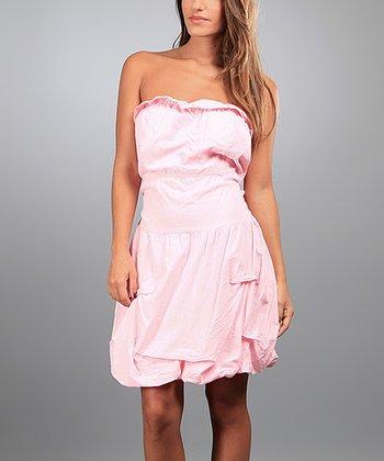 Light Pink Martha Strapless Dress