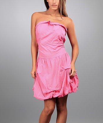 Pink Martha Strapless Dress