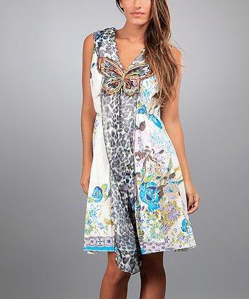 Blue Penelope Sleeveless Dress