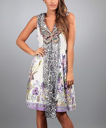 Purple Penelope Sleeveless Dress