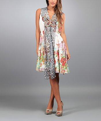 Orange Penelope Sleeveless Dress