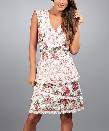 Pink Nadia Peplum Dress