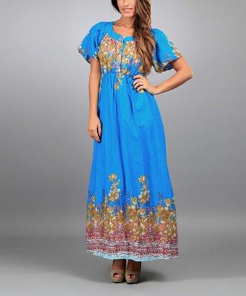 Blue Nora Maxi Dress