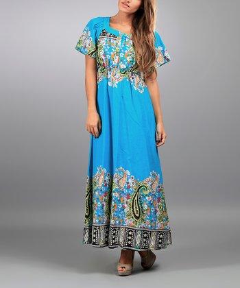 Turquoise Nora Maxi Dress